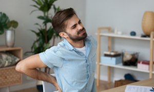 Desk worker with back pain