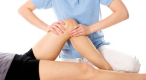 Chiropractic treatment on the knee